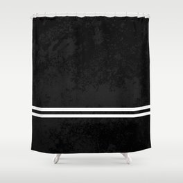 Infinite Road - Black And White Abstract Shower Curtain