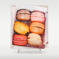 macarons Shower Curtains featuring Macarons by Amanda Lily