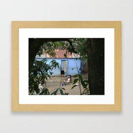 Village Life in Haiti Framed Art Print