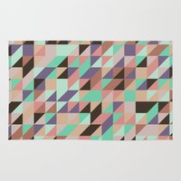 triangle Area & Throw Rugs featuring Triangle by Crazy Thoom