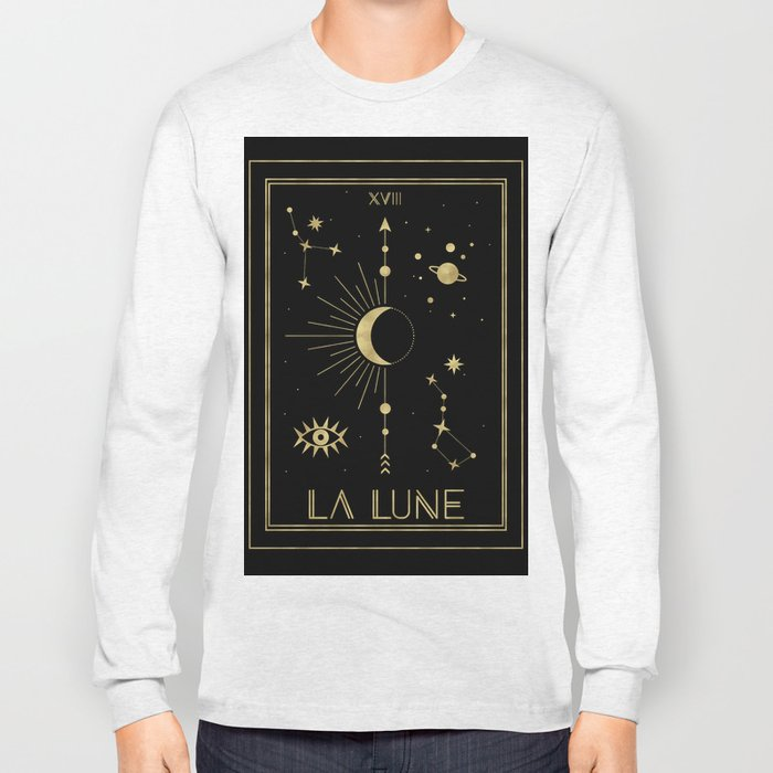 The Moon or La Lune Gold Edition Long Sleeve T-shirt