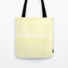 Yellow Lines dancing striped Tote Bag