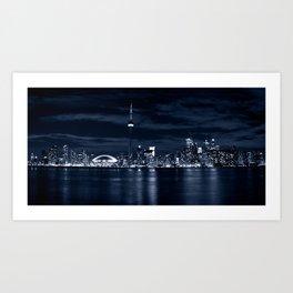 Toronto Skyline, Blue Art Print