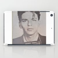 frank sinatra iPad Cases featuring Frank Sinatra Mugshot (Front)  by All Surfaces Design