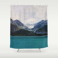 alaska Shower Curtains featuring Alaska Wilderness by Leah Flores