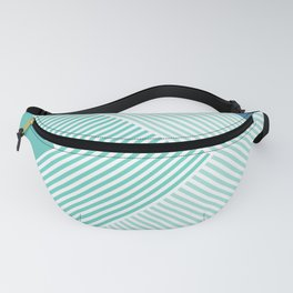 Teal Vibes - Geometric Triangle Stripes Fanny Pack