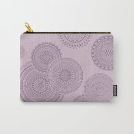 Randomly placed mandala pattern in lilac. Carry-All Pouch