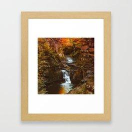 Burn Red like Autumn Framed Art Print