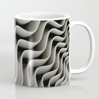 exo Mugs featuring Exo-skelton 3D Optical Illusion by BohemianBound