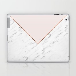 Peony blush geometric marble Laptop & iPad Skin