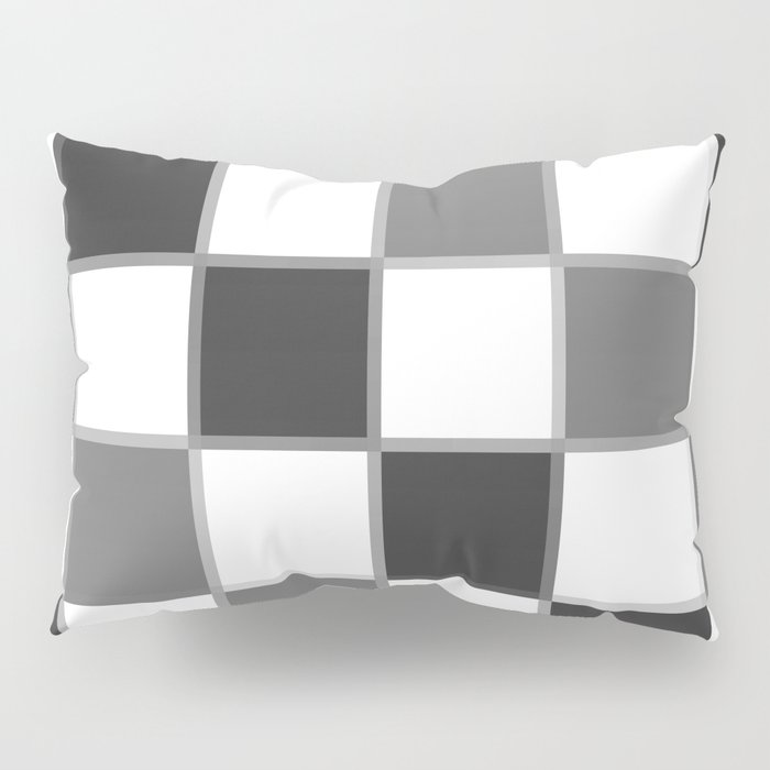 Slate & Gray Checkers / Checkerboard Pillow Sham