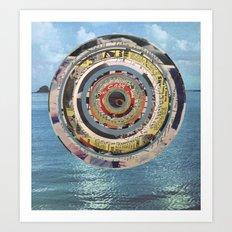 Round Sea Art Print