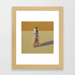 Clothes Pin Framed Art Print