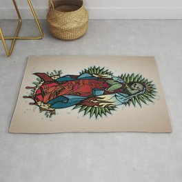 Cactus Lady of Guadalupe Rug