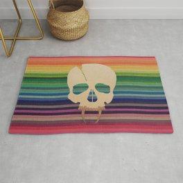 Rainbow Skull Rug