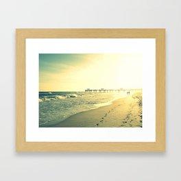 Couple on the Beach Framed Art Print