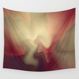 Burgandy Red Lava Lamp Abstract Wall Tapestry