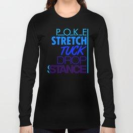 POKE STRETCH TUCK DROP STANCE v3 HQvector Long Sleeve T-shirt