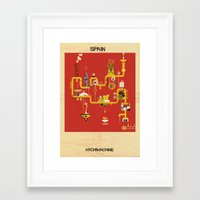 spain Framed Art Prints featuring Spain by federico babina