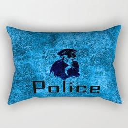 police skull Rectangular Pillow