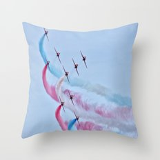 RAF Red Arrows  Throw Pillow