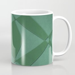 Wings and Sails - Green and Light Green Coffee Mug