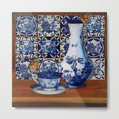 Blue Willow Stillife Metal Print