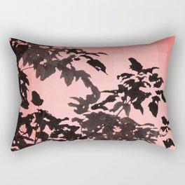 Leaves Silhouette - Peach Rectangular Pillow