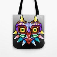 majoras mask Tote Bags featuring Majoras Mask /Pixel /zelda by tshirtsz