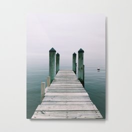 Fog at Saybrook Manor Metal Print