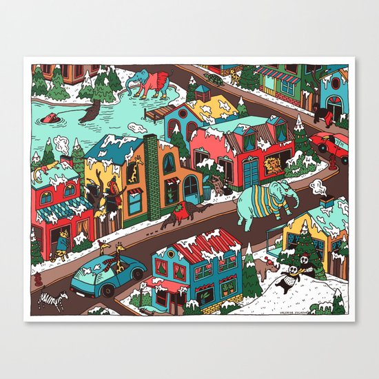 This Place is a Zoo! Canvas Print