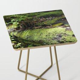 Rainforest Ferns & Moss Side Table
