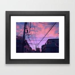 Anime Sunrise Framed Art Print
