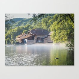 French Jura River - Landscape Photography Canvas Print