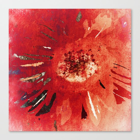 New Years Flower Canvas Print