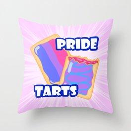 Bi Pride Tarts Throw Pillow