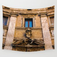 roman Wall Tapestries featuring Roman Facade - Italy by CAPTAINSILVA