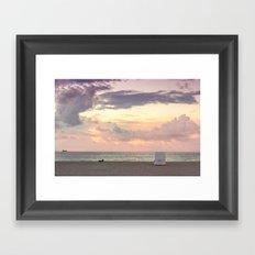 Sunrise in South Beach Framed Art Print