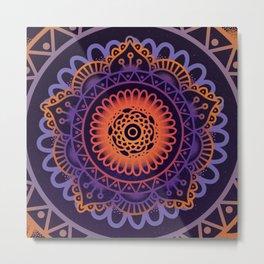 Colourful Mandala of Life Metal Print