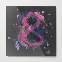 8 - infinity, abundance, success in business, Modern Feng Shui Metal Print