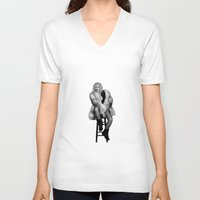 fancy V-neck T-shirts featuring Fancy by FREE Designs