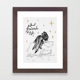 Friends For Life Framed Art Print