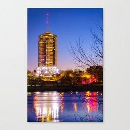 University Tower Reflections at Dawn - Tulsa Oklahoma Canvas Print