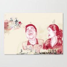 Fun in a Hotel Room Canvas Print
