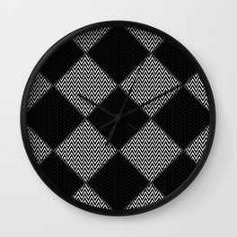 Black and White Patterns Wall Clock