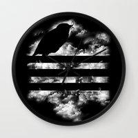 hunting Wall Clocks featuring Hunting Symphony by Tobe Fonseca