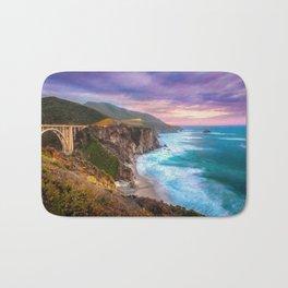 Big Sur Bixby Bridge Adventure Bath Mat