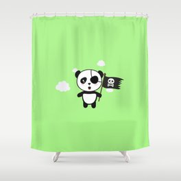 Panda Pirate with Flag T-Shirt for all Ages Da19o Shower Curtain