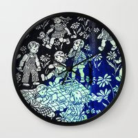 kids Wall Clocks featuring kids by Shelby Claire