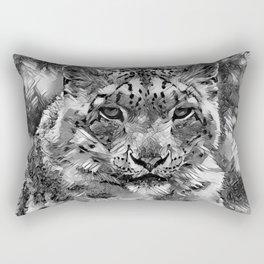 AnimalArtBW_Leopard_20170601_by_JAMColorsSpecial Rectangular Pillow